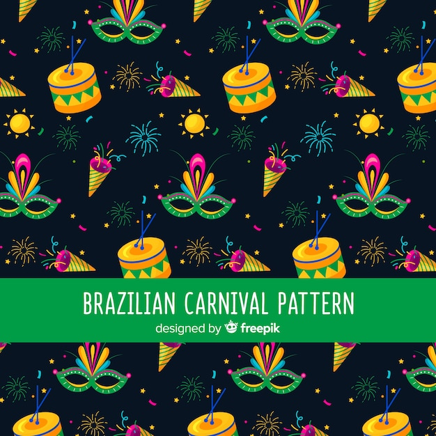 Scuro modello di carnevale brasiliano Vettore gratuito