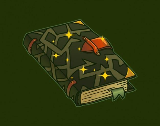 Scuro strega libro in stile cartone animato scaricare