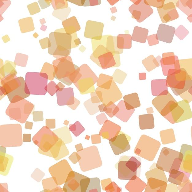 Seamless astratto geometrico quadrato modello di sfondo - illustrazione vettoriale da casuali piazze ruotate Vettore gratuito
