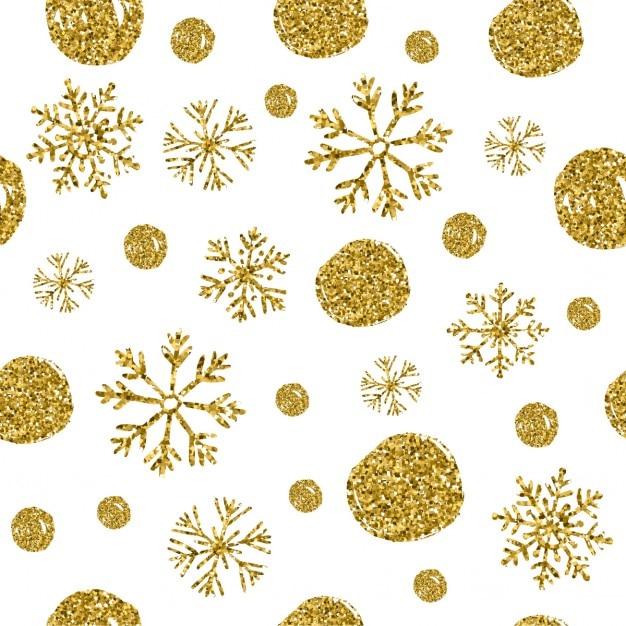 7acfa3713e Seamless modello di cerchi d'oro e fiocchi di neve Vettore gratuito