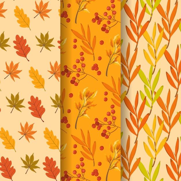 Seamless pattern d'autunno Vettore Premium