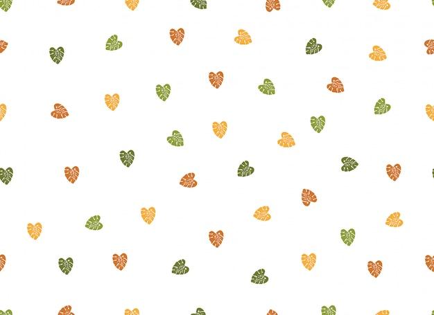 Seamless pattern di cuore semplice amore Vettore Premium