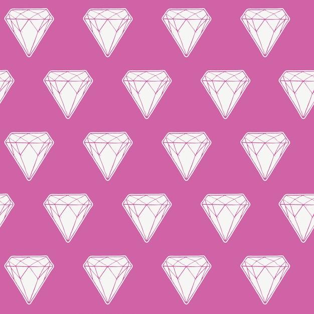 Seamless pattern di diamante, Vettore Premium