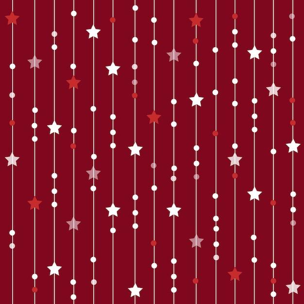 Seamless Pattern Di Natale Da Stelle Righe E Punti Natale E