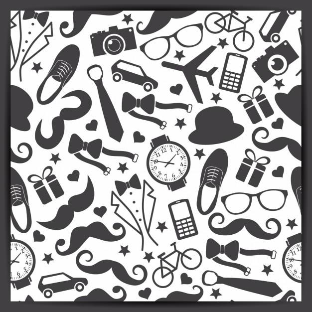 Seamless pattern di padri giorno illustrazione vettoriale Vettore gratuito