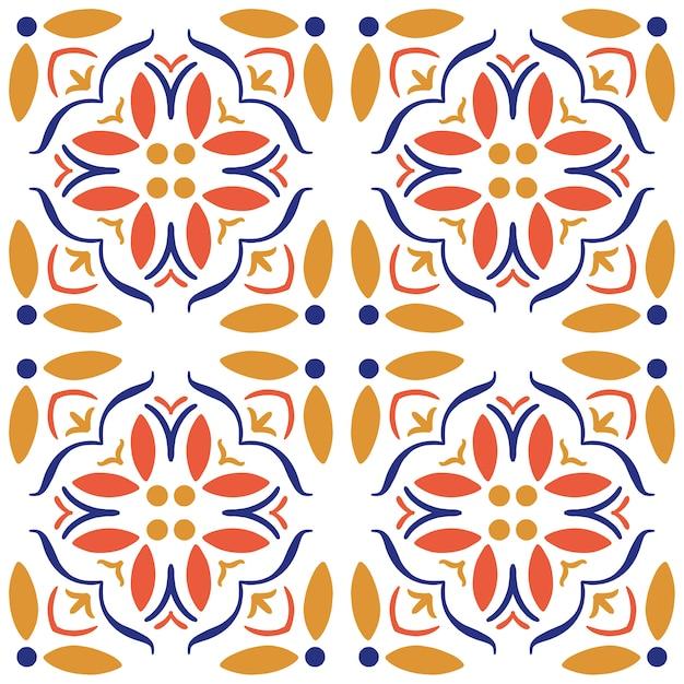 Seamless pattern di piastrelle di ceramica. Vettore Premium