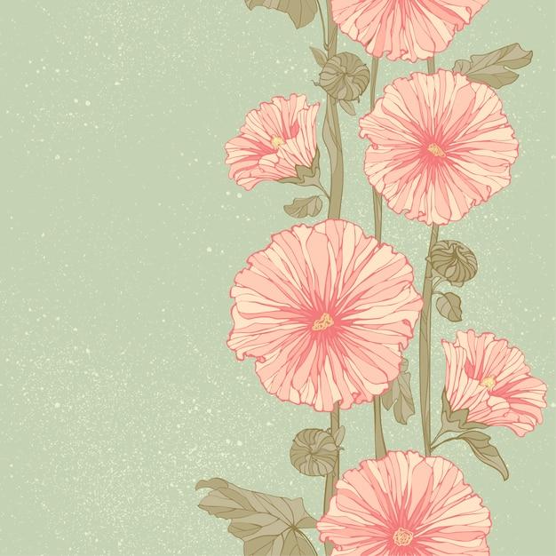 Seamless pattern floreale con peonie. Vettore Premium