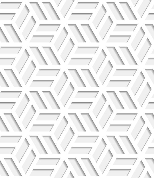 Seamless pattern giapponese tagliato fuori dalla carta Vettore gratuito