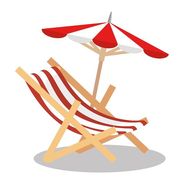 Disegno Ombrellone E Sdraio.Sedia A Sdraio Con Ombrellone Scaricare Vettori Premium