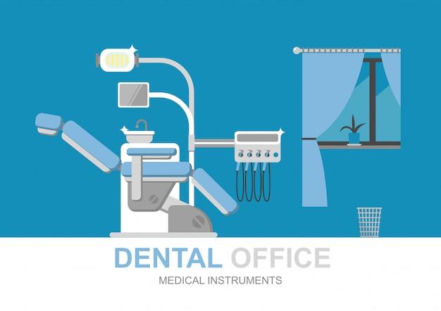 Sedia da dentista isolata Vettore Premium