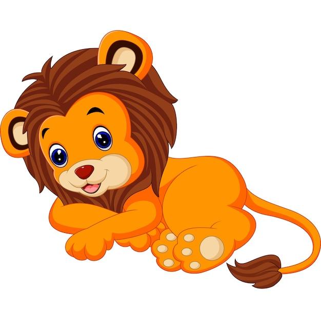 Seduta carina di leone Vettore Premium