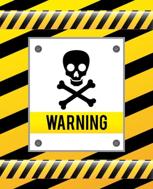 Segnale di avvertenza su giallo Vettore gratuito