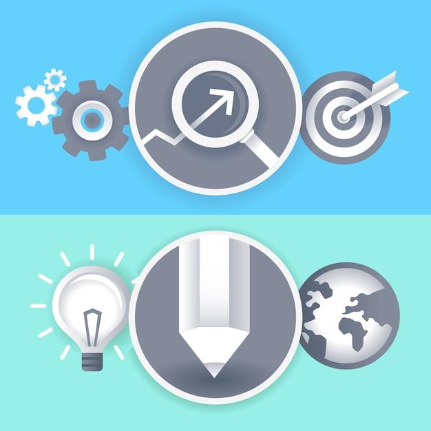 Segni di business e grafica vettoriale Vettore Premium