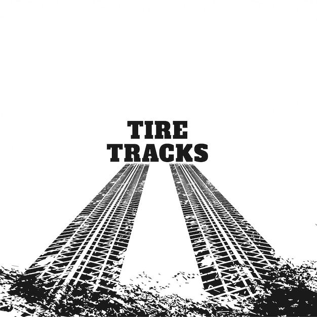 Segni di tracce di pneumatici sporchi astratti Vettore gratuito