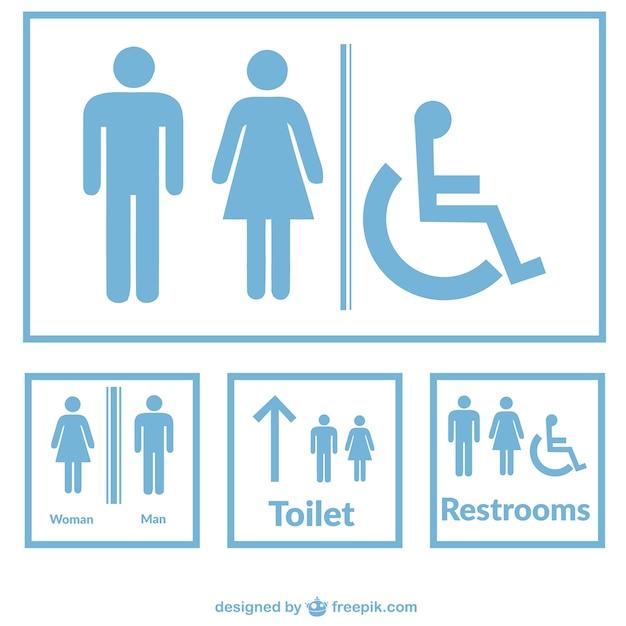 Segni toilette vector Vettore gratuito