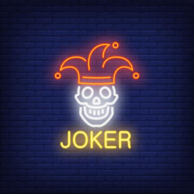 Segno al neon joker Vettore gratuito