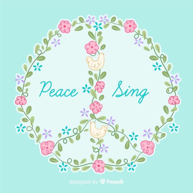 Segno di pace Vettore gratuito