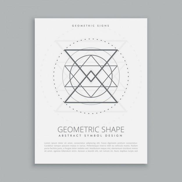 Segno geometrico sacro Vettore gratuito
