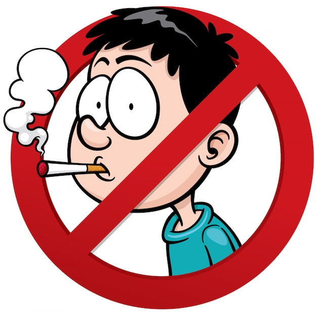 Segno non fumatori Vettore Premium