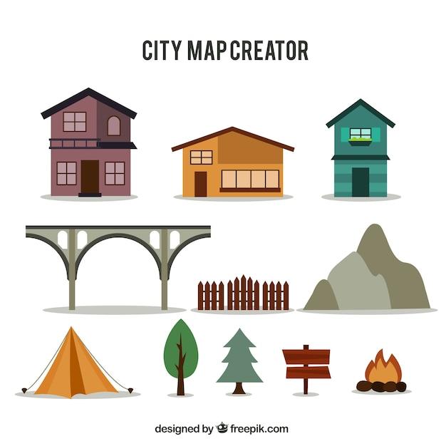 Selezione degli elementi per creare una mappa della citt for Mappa della costruzione di casa