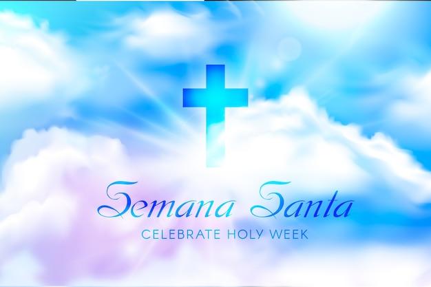 Semana realistica santa Vettore gratuito
