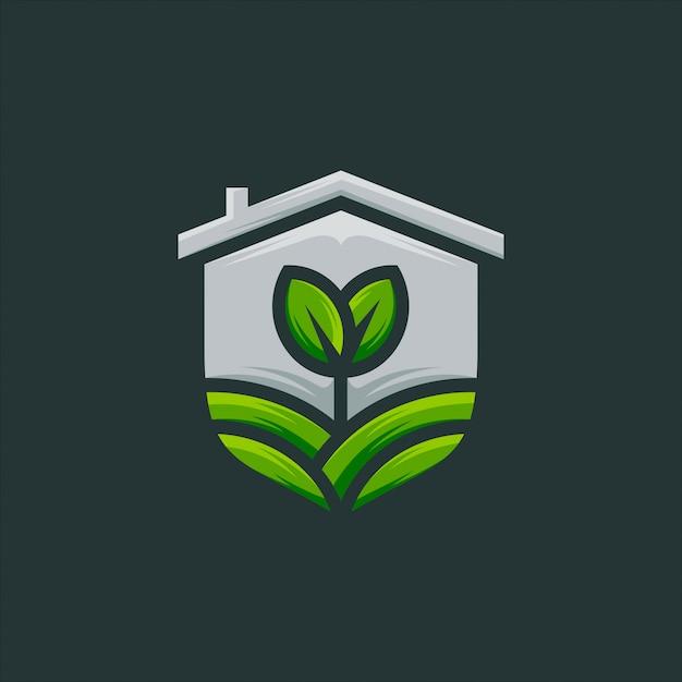 Seme, germoglio, agricoltura logo design vettoriale Vettore Premium