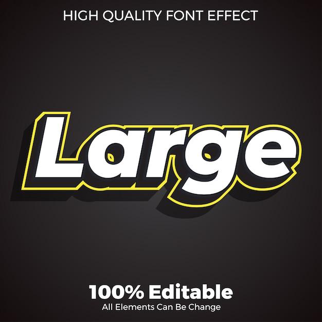 Semplice effetto del carattere in stile testo 3d Vettore Premium