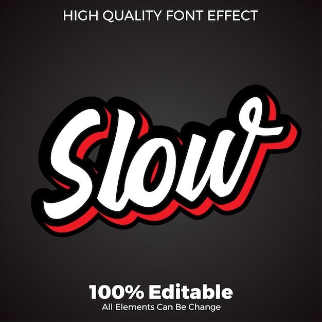 Semplice effetto di testo in stile script 3d Vettore Premium