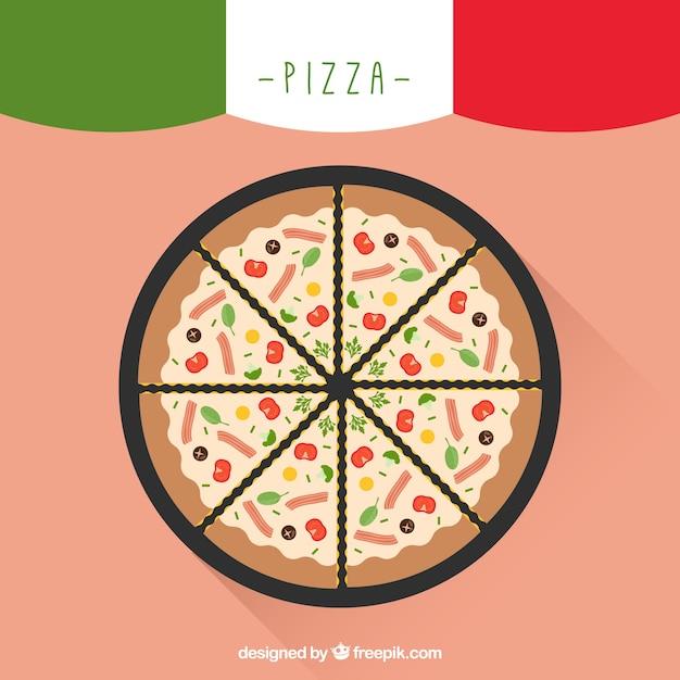 Semplice sfondo di pizza gustosa scaricare vettori gratis for Semplice creatore di piano gratuito