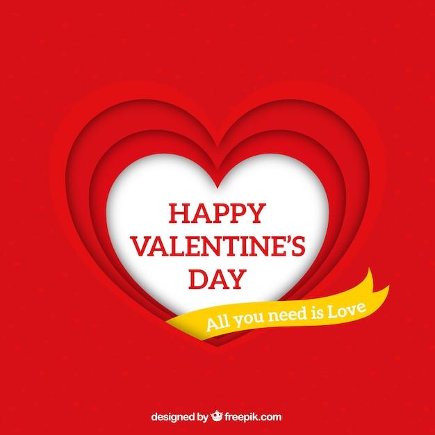 Semplice Sfondo Rosso San Valentino Scaricare Vettori Gratis