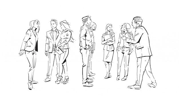 Serie di illustrazioni di uomini d'affari Vettore Premium