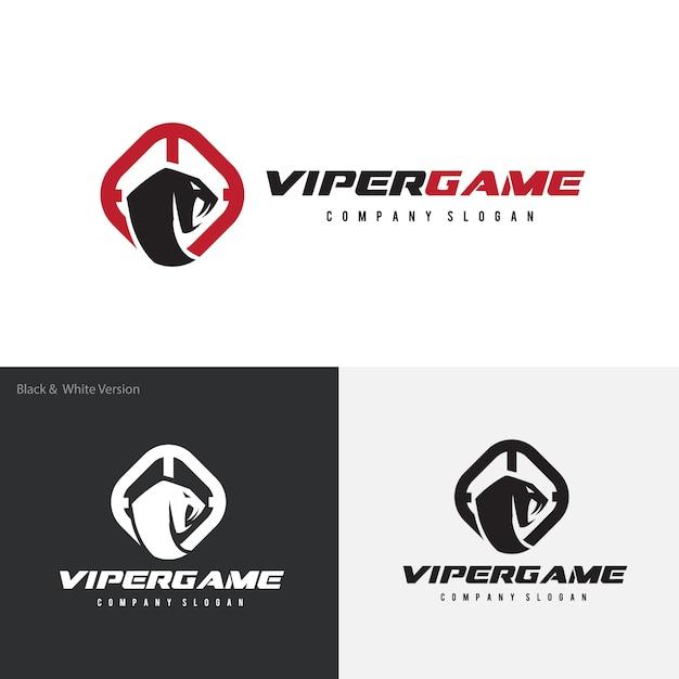 Serpente, venom, logo template di viper. Vettore Premium