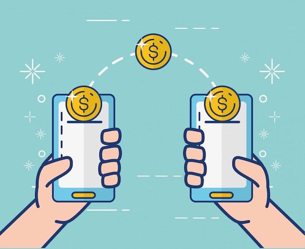 Servizi bancari online su smartphone Vettore gratuito