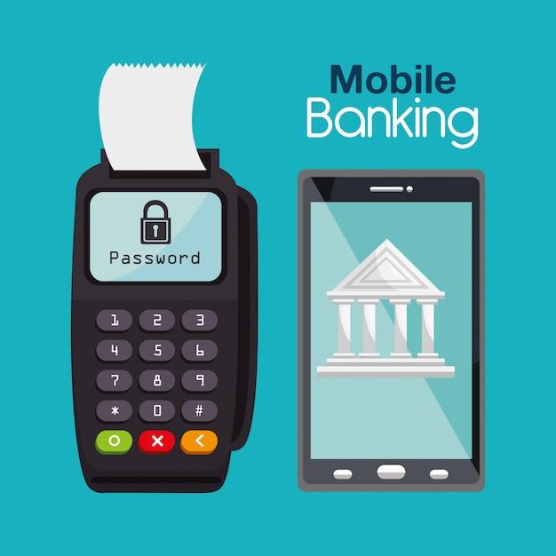 Servizi bancari per smarthpone Vettore gratuito
