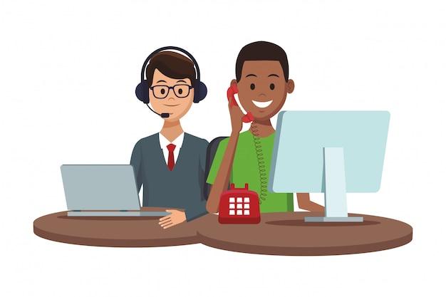 Servizi di supporto del cliente Vettore Premium