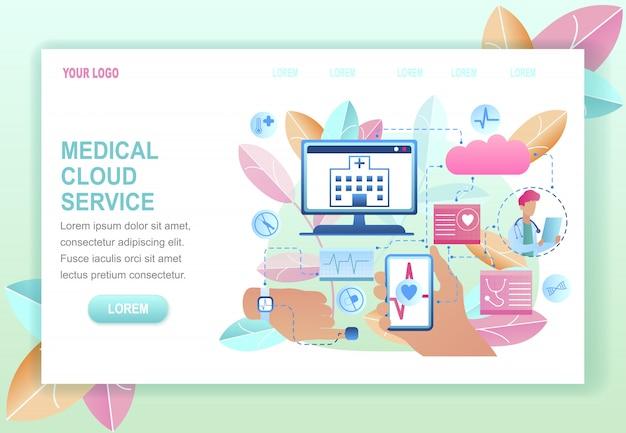 Servizio cloud medico Vettore Premium