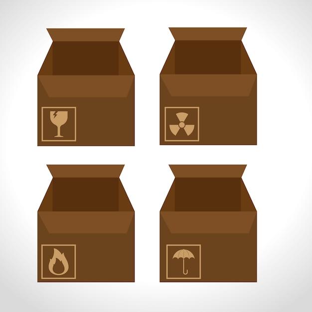 Servizio di consegna dell'imballaggio del cartone delle scatole Vettore gratuito