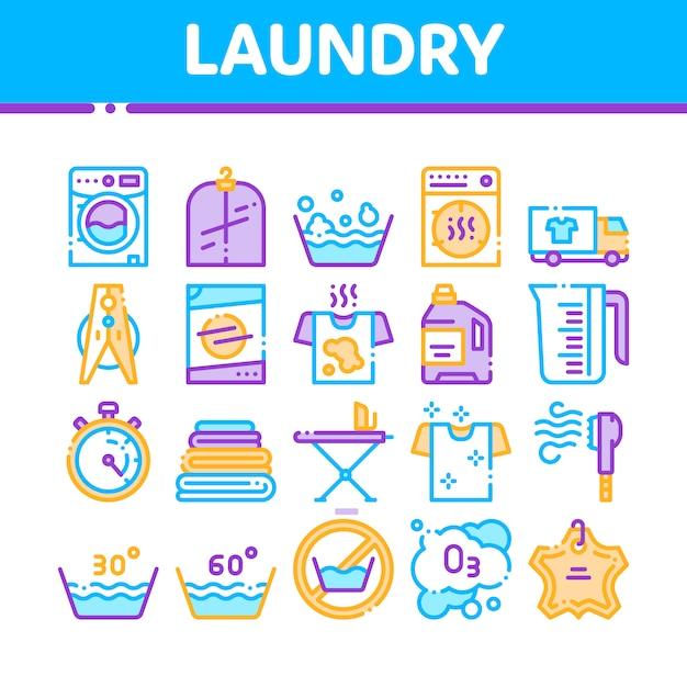 Servizio di lavanderia Vettore Premium