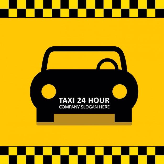 Servizio taxi servizio taxi da 24 ore servizio giallo nero giallo Vettore gratuito
