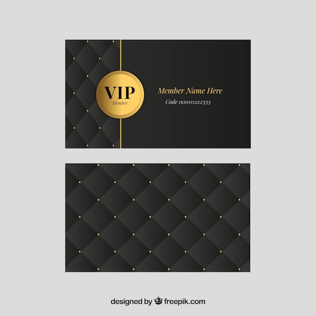 Set classico di carte vip dorate Vettore gratuito