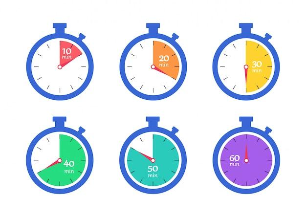 Set cronometratore Vettore Premium
