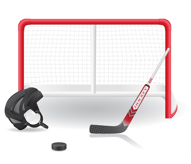Set da hockey. Vettore Premium