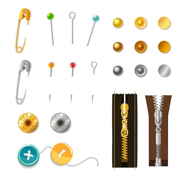 Set di accessori in metallo Vettore gratuito