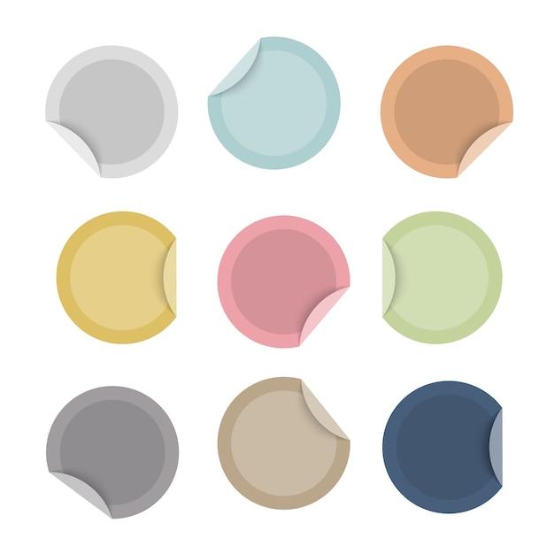 Set di adesivi colorati offerta speciale vuoto Vettore Premium