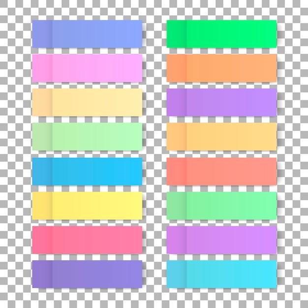 Set di adesivi colorati Vettore Premium