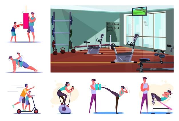 Set di allenamento sportivo per giovani Vettore gratuito