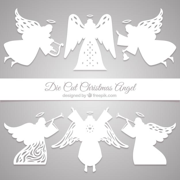 Set Di Angeli Di Carta Scaricare Vettori Gratis