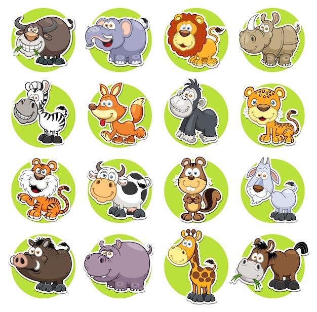 Set di animali Vettore Premium