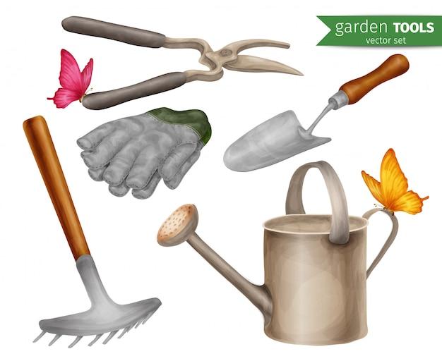 Set di attrezzi da giardino Vettore gratuito