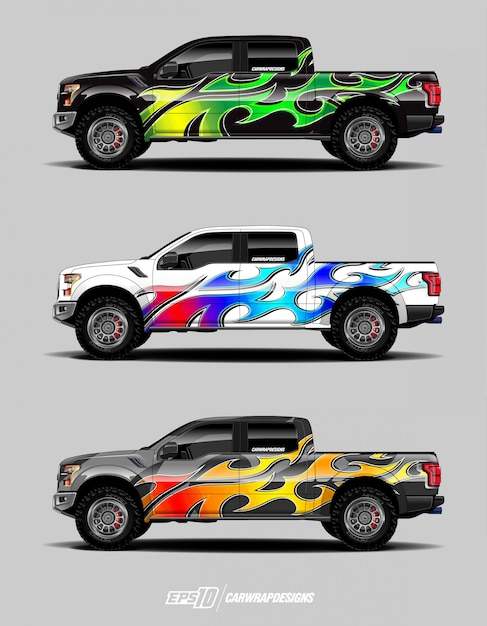 Set di avvolgimento per camion Vettore Premium